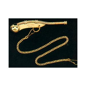 Bosuns whistle with chain brass