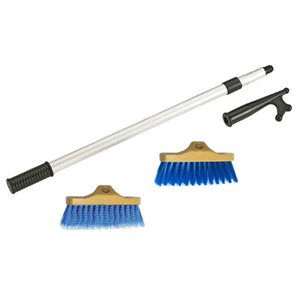 "Deck brush (soft and coarse) with hook 48""  telescopic"