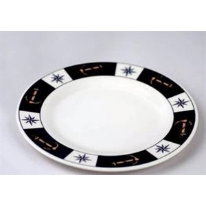 Plate 8'' anchor compass design set of 6