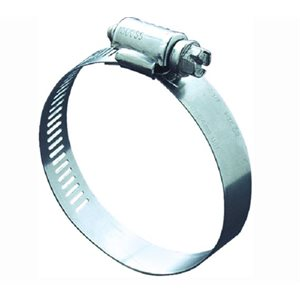 "Hose clamp min 1-3 / 4""  max 2-3 / 4""  all stainless"