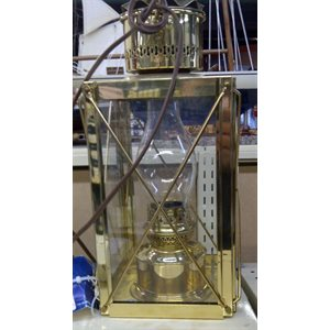 Cargo lantern electric  brass 14""