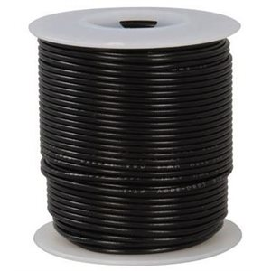 Wire 12 AWG black tinned copper 100'