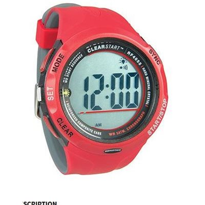 Clear Start sailing watch 50mm red